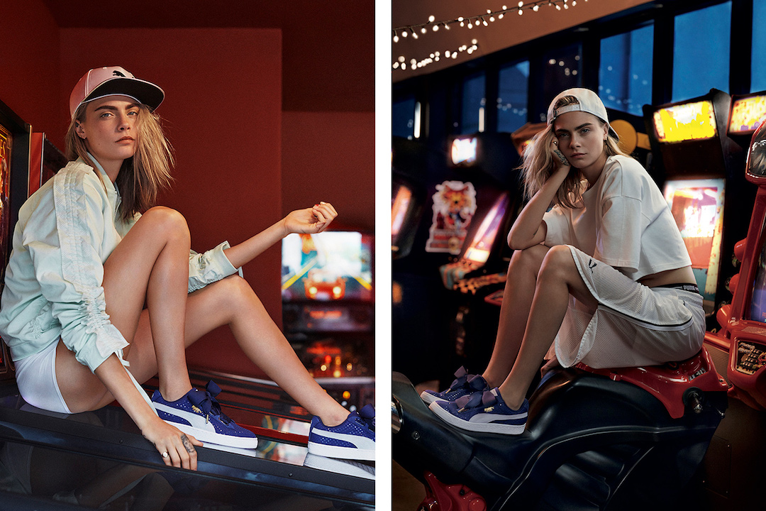 online store ade1a 9d181 Cara Delevingne Returns To Introduce Puma's Basket Heart ...